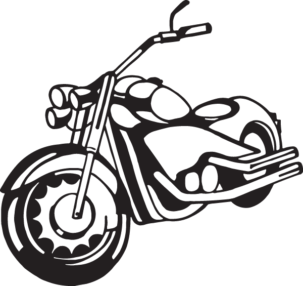 Paper Black And White Picture Frame Pattern Sticky Motor Bike Line Drawing Clipart Full Size Clipart 952806 Pinclipart