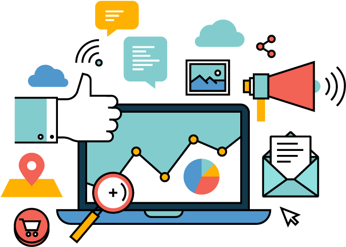 Marketing Vector - Social Media Marketing Vector Clipart ...