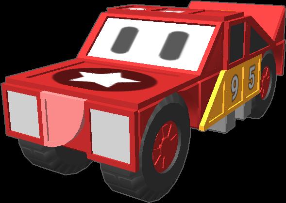 97 lightning mcqueen meets blocksworld model car clipart