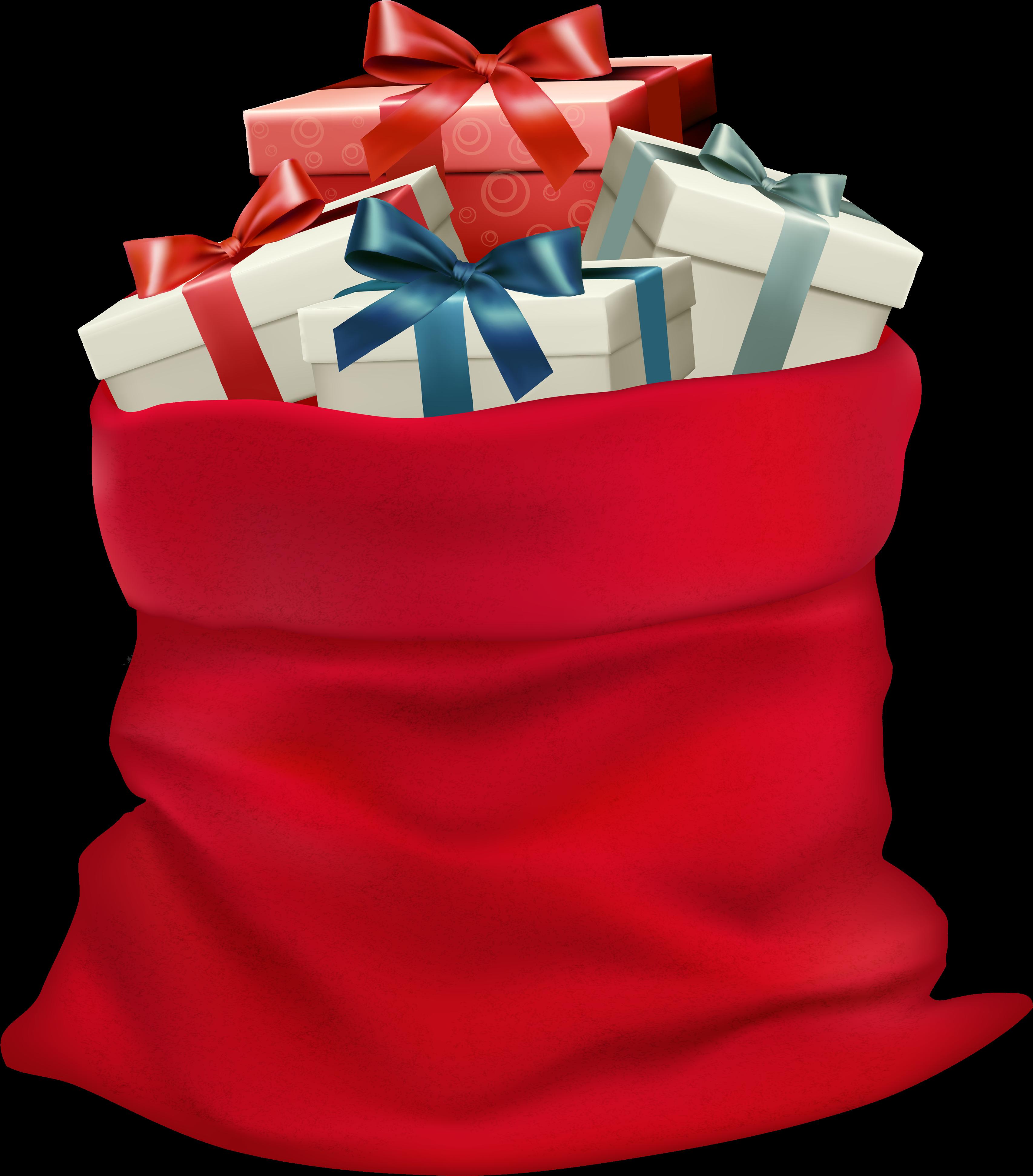 Мешок с подарками открытка, поздравить подругу днем
