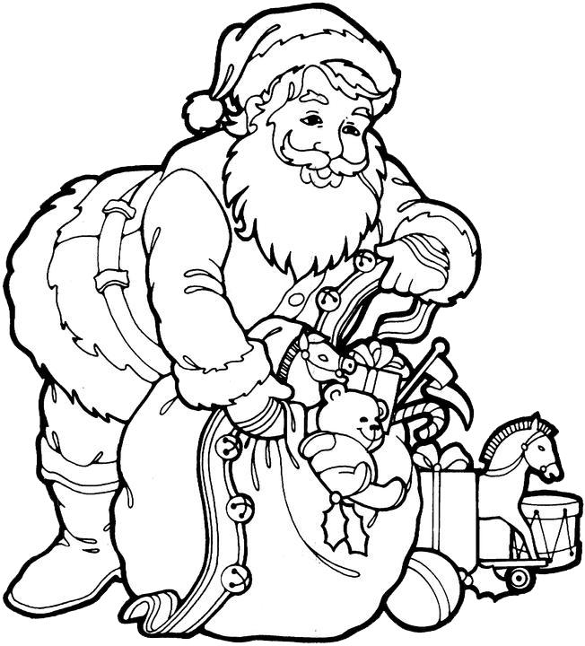 Santa Claus Coloring Pages 3 Purple Kitty Santa Claus Coloring Pages Clipart Full Size Clipart 989734 Pinclipart