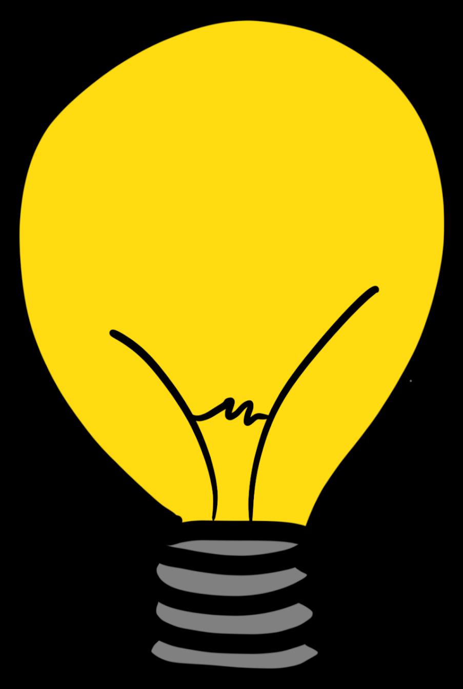 Lightbulb Clipart Reflection - Incandescent Light Bulb ...