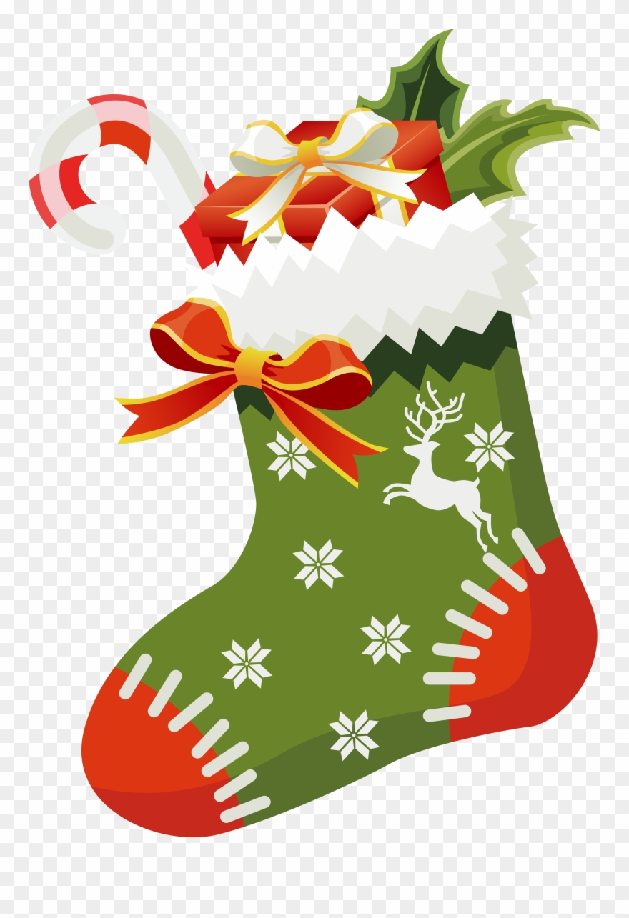 Christmas Stockings Png.Christmas Green Christmas Stocking Png Clipart 1102
