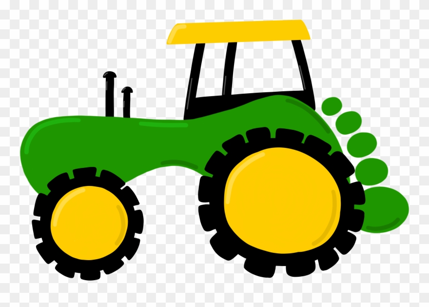 Graphic Freeuse Library Backhoe Clipart Green Tractor Traktor