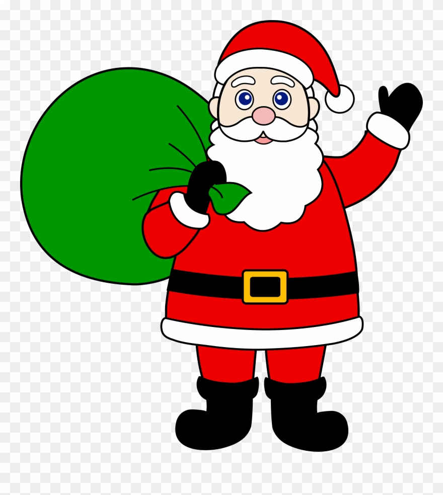 074dddddef907 Santa Claus With Sack Of Gifts Clipart ( 2490) - PinClipart