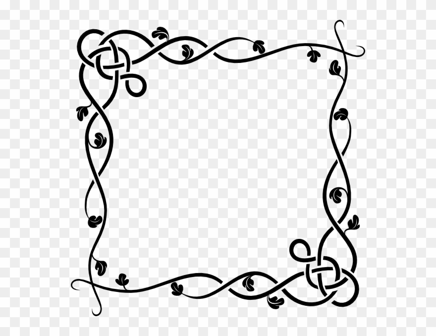 Free Simple Flower Border Clipart Png Download 2622 Pinclipart