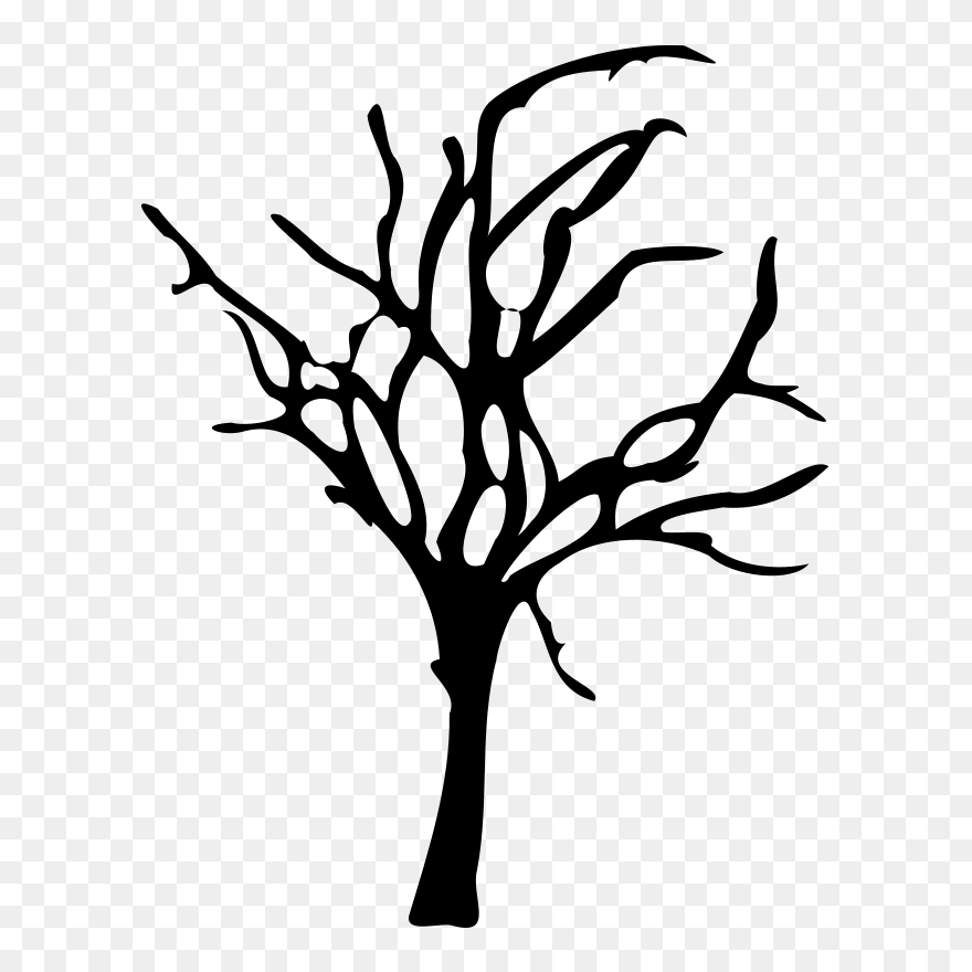 Tree dead. Silhouette art vector png