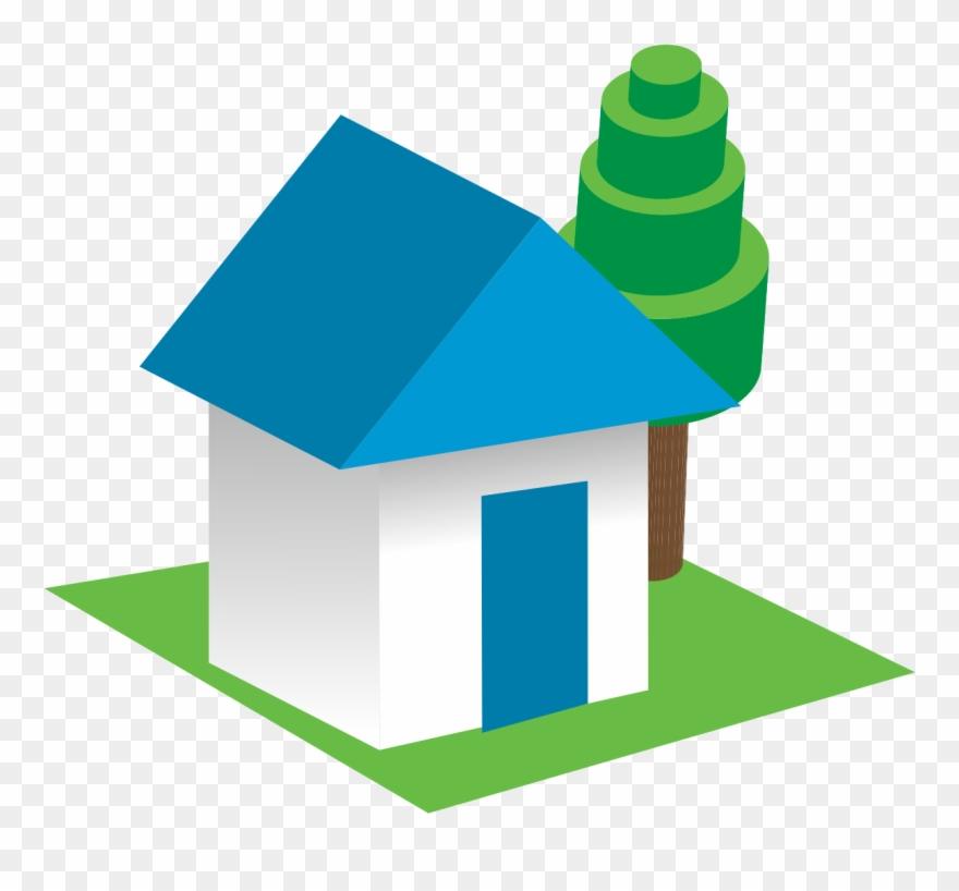 3d House Clip Art Clipart Of 3d Buildings Png Download