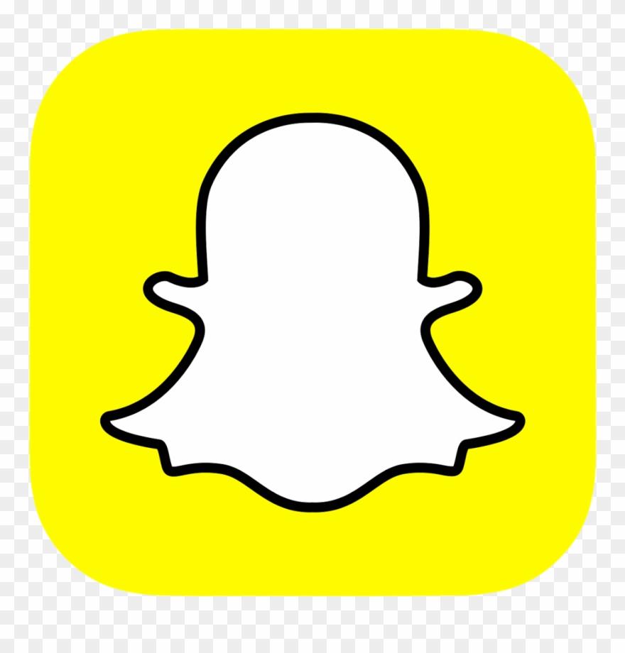 Snapchat app. Logo clipart social media