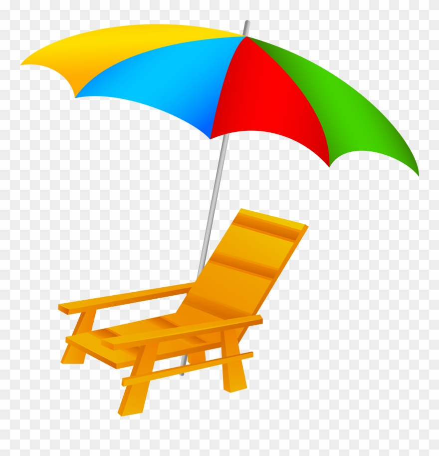 Beach transparent. Umbrella and chair png