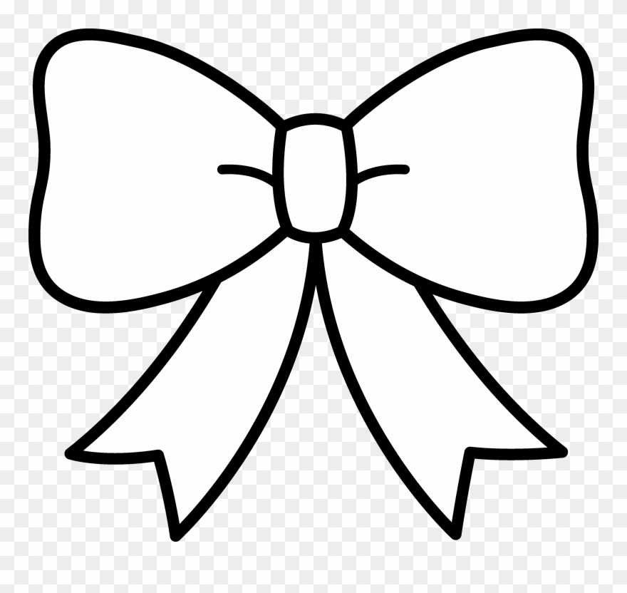 Bow white. Clipart black and ribbon