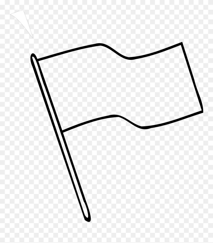 Flag outline. White images clip art