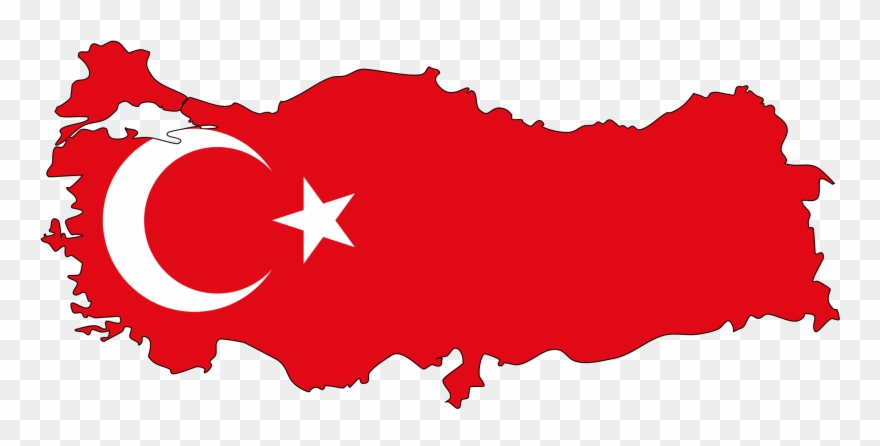 Country Flag Clip Art - Turkey Map Png Transparent Png ...