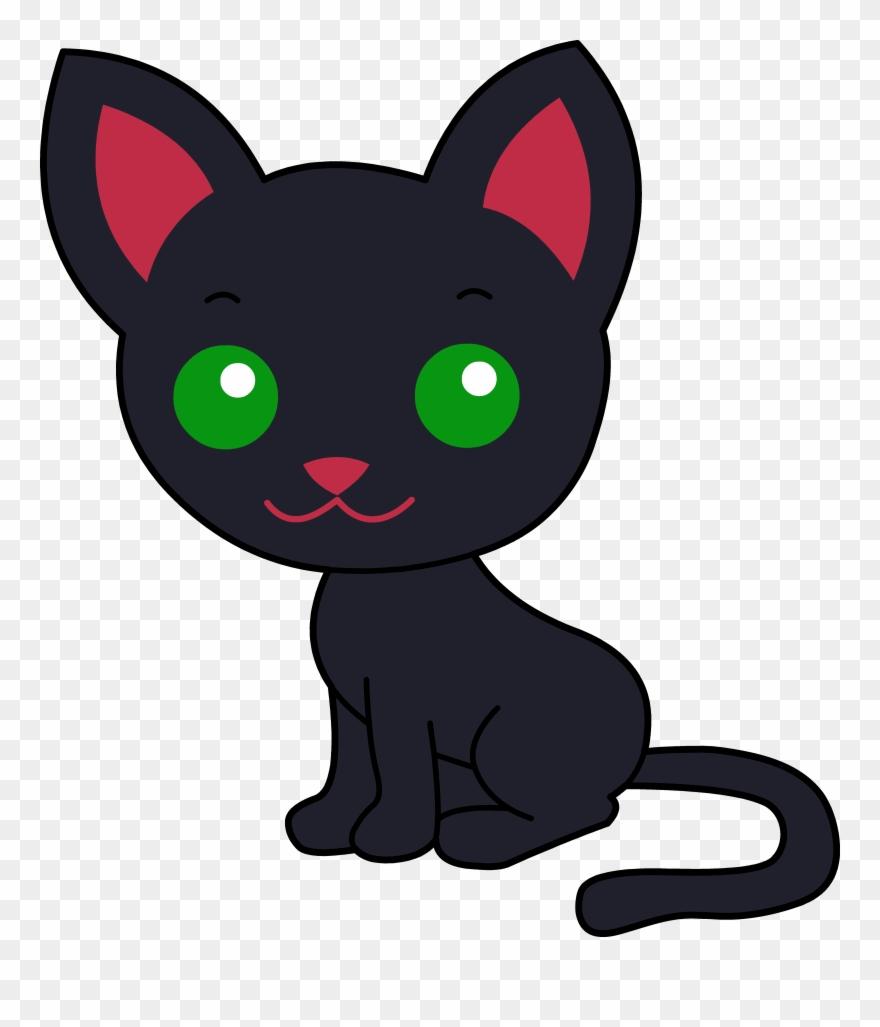 Cute Black Cat Cartoon