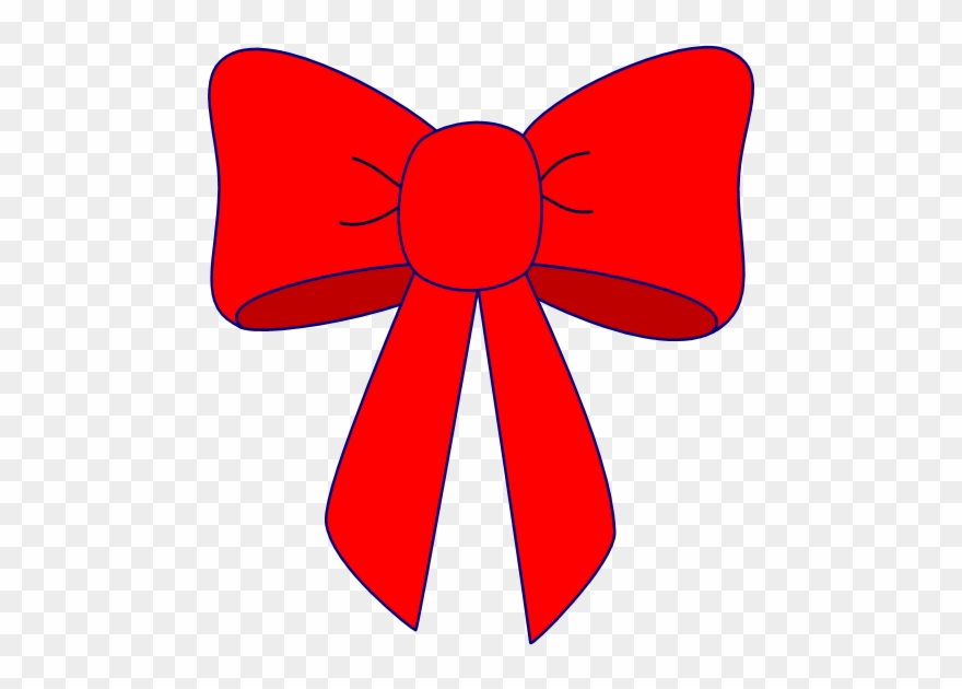 Bow cheer. Clipart clip art red