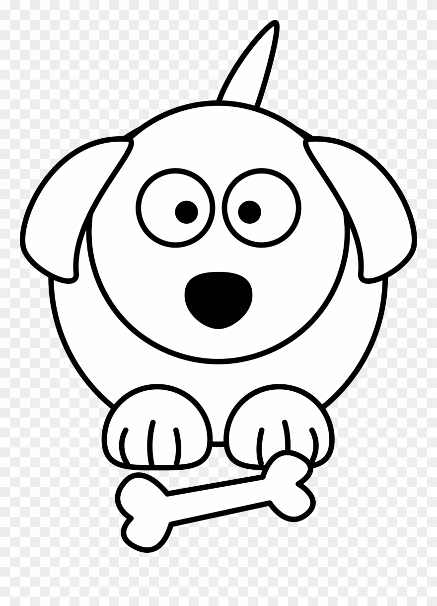 Dog Black And White Black And White Dog Cartoon Free Cartoon Dog Line Drawing Clipart 4068 Pinclipart