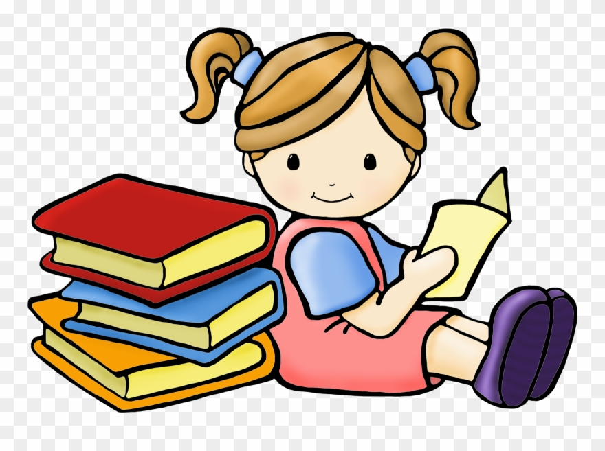 Download Shhh Clipart Girl Reading Book Clipart Free ...