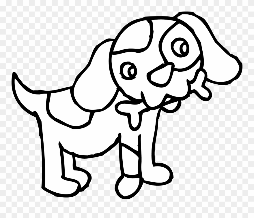 Download Dog Clipart Black And White Transparent Png Download
