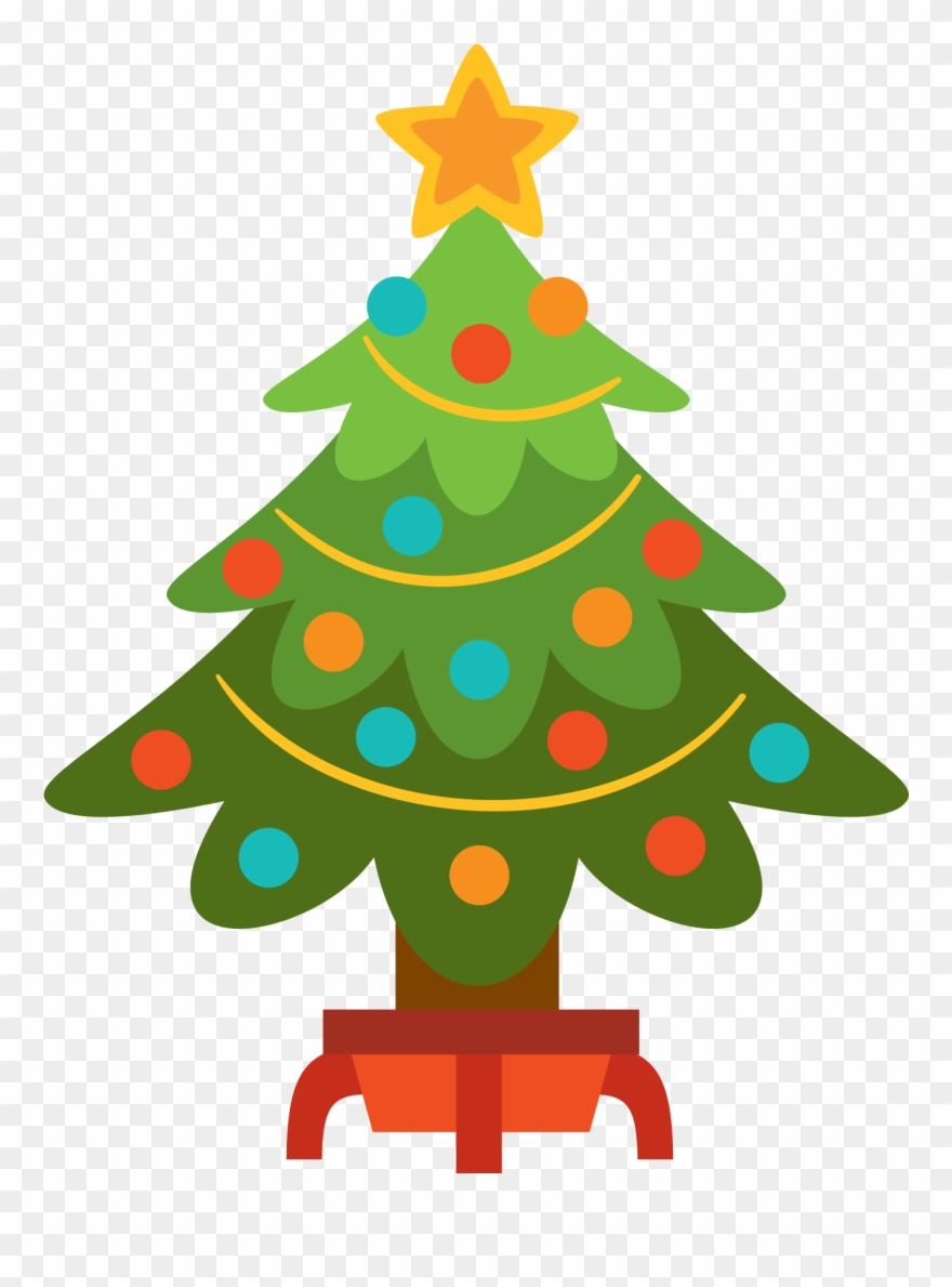 Christmas tree simple. Free clip art moment