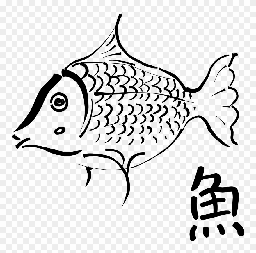 Download Outline Of A Fish Clipart Drawing Clip Art
