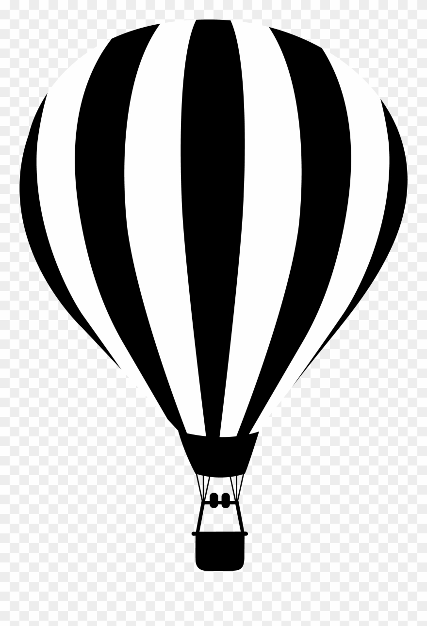 d17141de40 Clip Black And White Baloon Vector Black And White - Globos Aerostaticos Blanco  Y Negro -