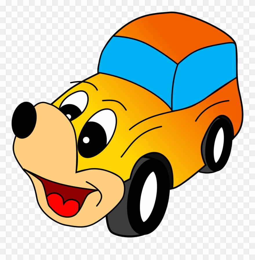 Comic Yellow Car Clipart Vector Clip Art Online Royalty Mobil Kartun Png Transparent Png 4812 Pinclipart