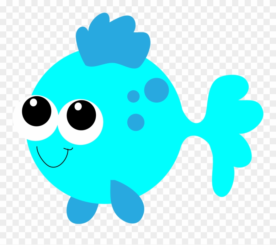 Fish kawaii. Cute clipart for kids