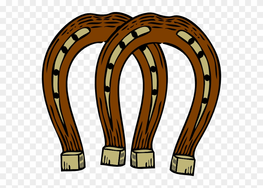 Horseshoe brown. Horse shoe clip art