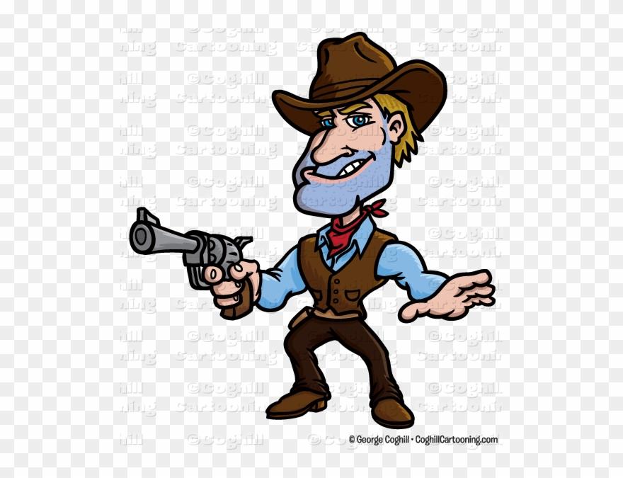 58f8b90b697e9 Gunslinger Cowboy Cartoon Character Clip Art Stock - Cowboy Cartoon Clipart  - Png Download