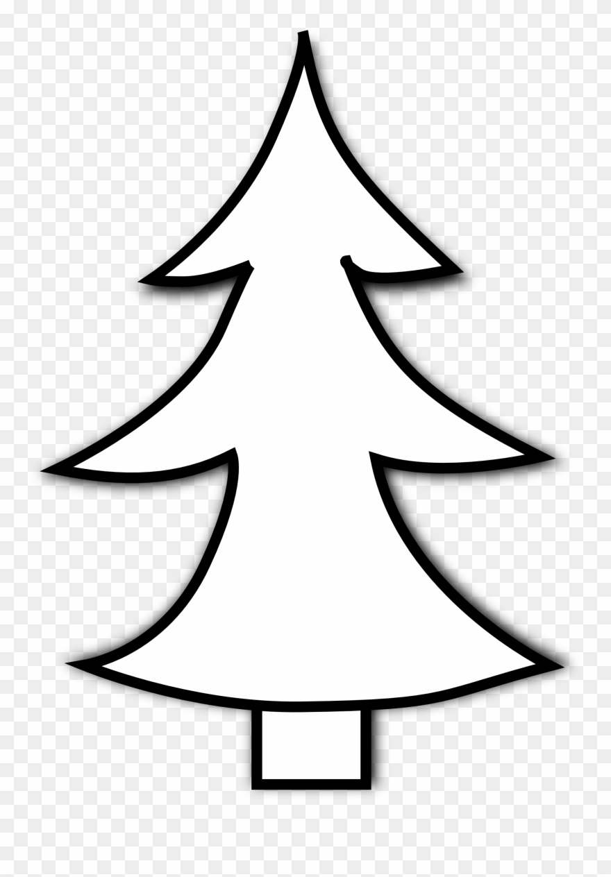 Clip Art Tree Outline White Christmas Tree Clipart Png Download