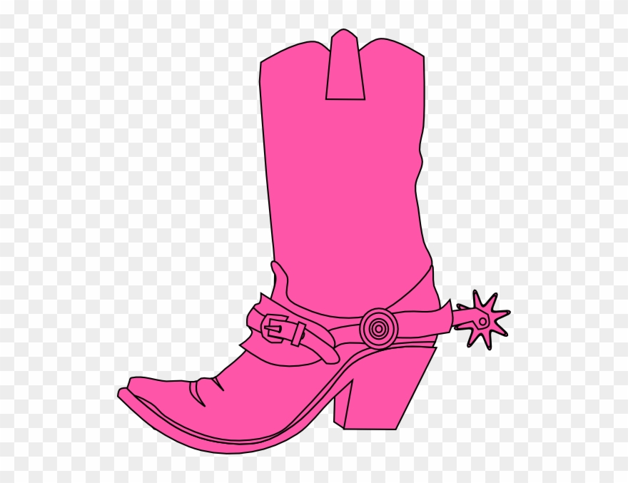 806283f32ea80 Cowgirl Clipart - Pink Cowboy Boot Clipart - Png Download. Free Download