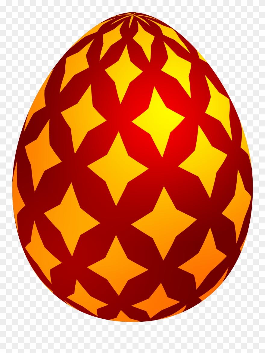 Red Easter Decorative Egg Png Clip Art - Easter Egg Png Transparent