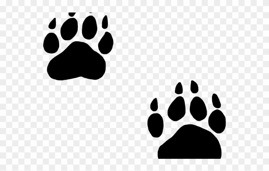 Dog Paw Outline Clip Art: Outline Lion Footprint Png – Billy