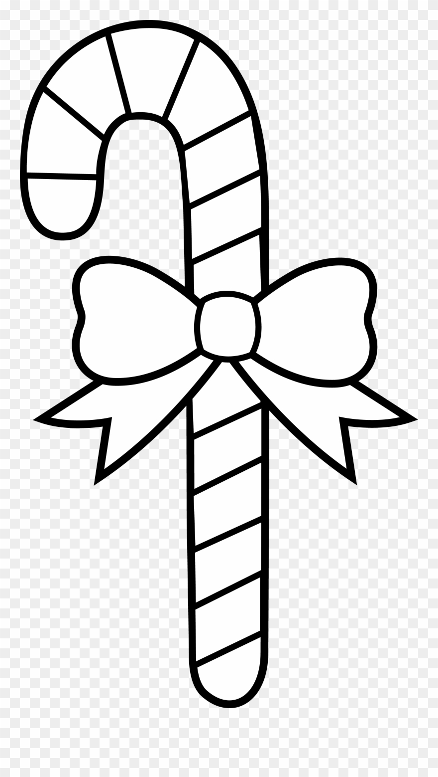 Candy cane black. Coloring pages christmas