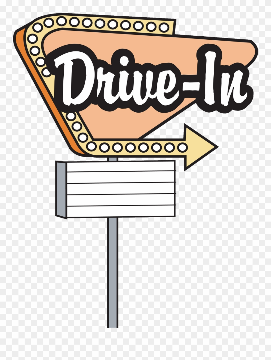 Movie drive in. Fifties diner retro logo