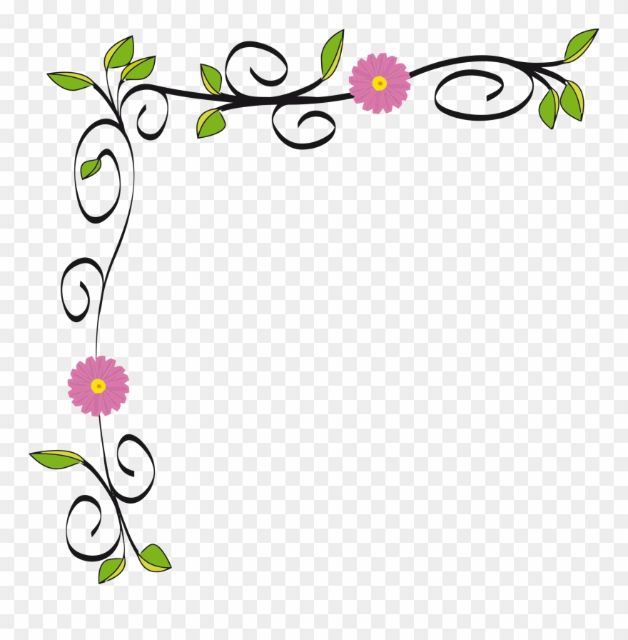 Graphic Free Stock Floral Border Vectorized By Gdj Flower