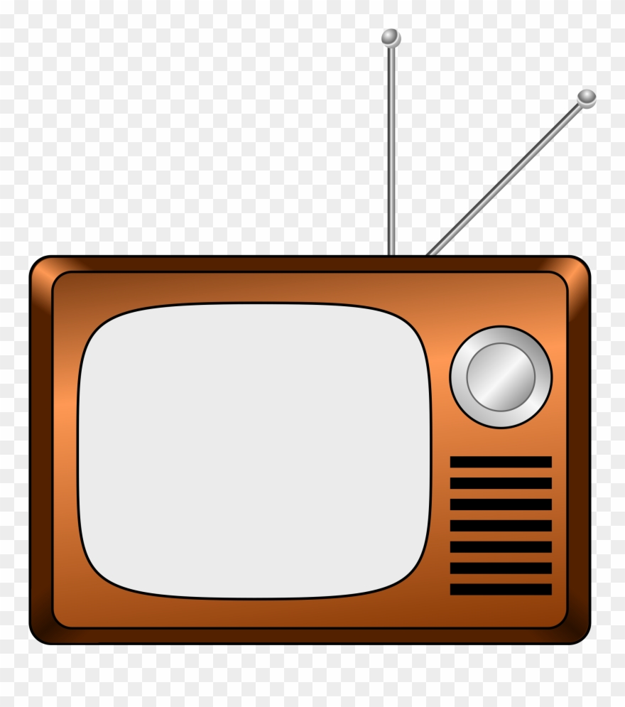 Tv animated. Television cliparts old fashioned