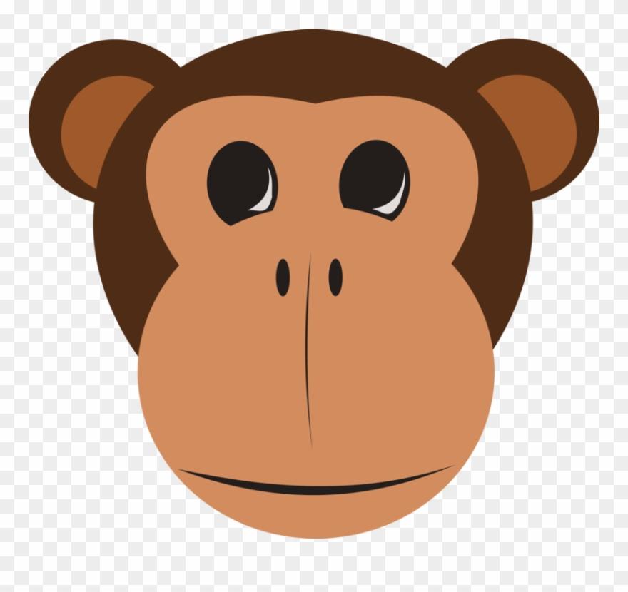 Monkey Face Free Vector Monkey Face Cartoon Clipart 6448 Pinclipart