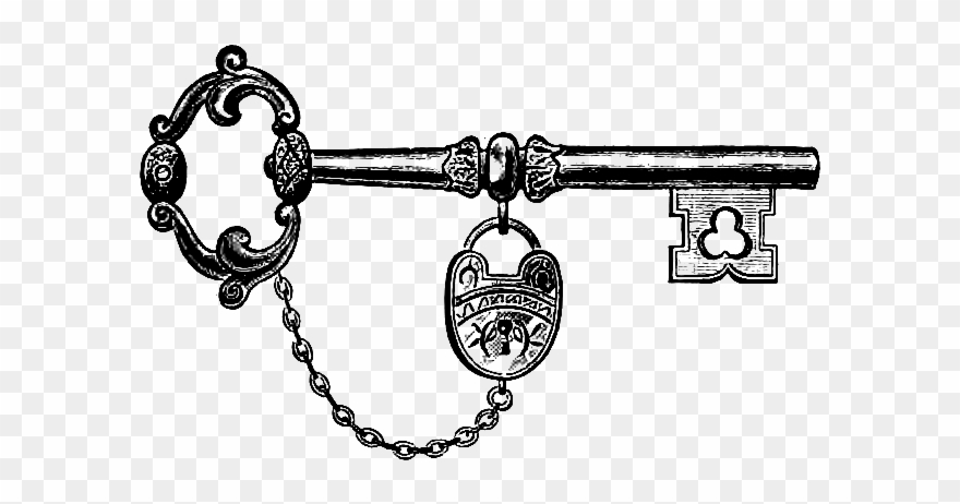Download Vintage Key & Lock Clip Art Image - Antique Key ...
