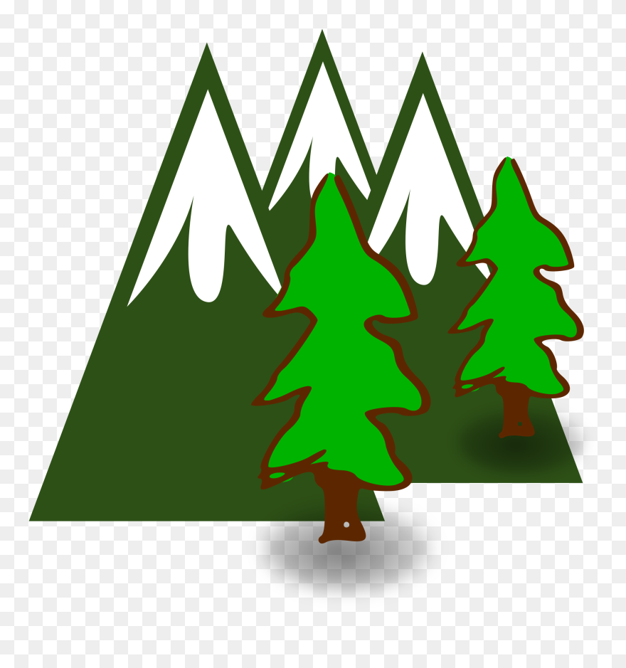 Mountain tree. Cliparts clipart png download