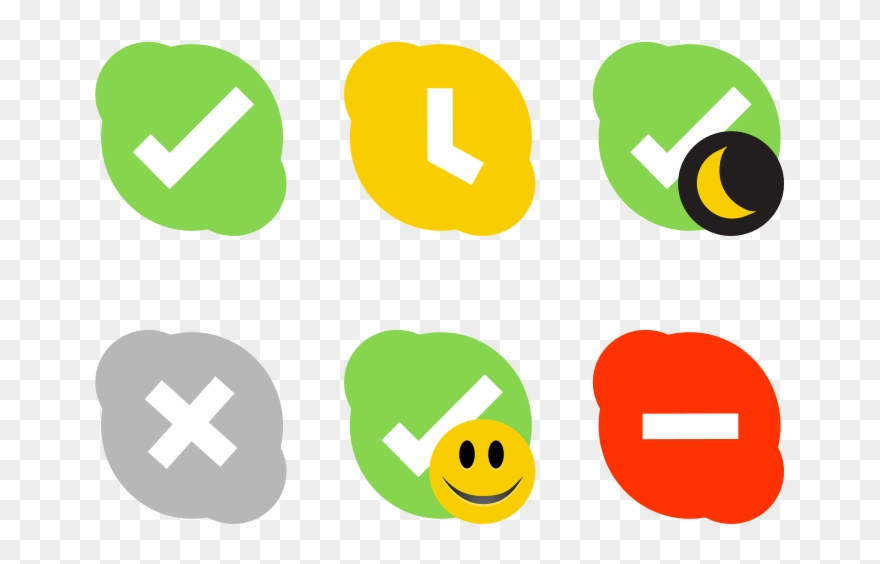 Icons Clip Art Download - Skype Status Icons - Png Download