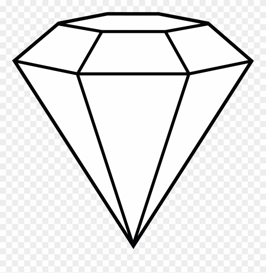 Diamond gem. Clip art library black