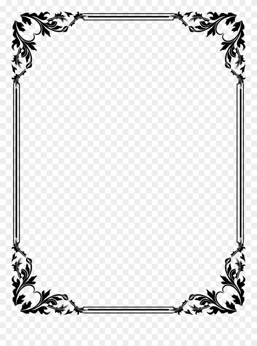 Download Vector Frame Png - Border Design Png Clipart (#7762