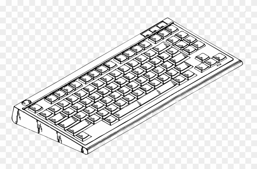 Computer Keyboard 2 Black Computer Keyboard Clipart Png Download 7900 Pinclipart