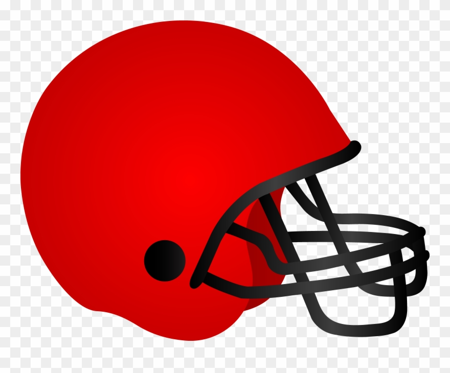 American Red Football Helmet Clipart Png Download 7946