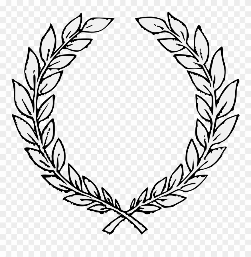 Traceable Heraldic Art Pdf Laurel Wreath Transparent Background