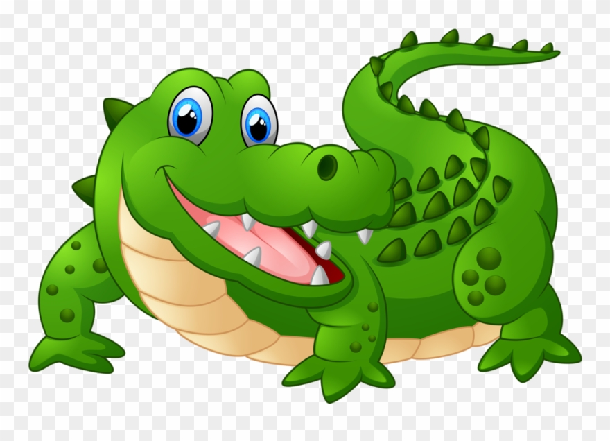 Cartoon Animals And Children Vector Png Soloveika Cartoon Image Of Crocodile Clipart 8073 Pinclipart