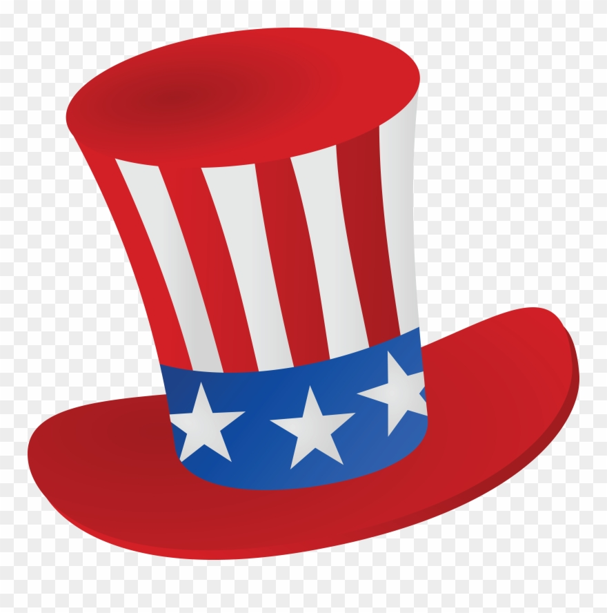 May The 4th Be With You Clip Art: Free Clipart Of A Patriotic American Top Hat