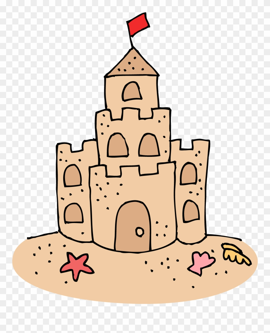 Sand Castle Colouring Pages Clipart 8698 Pinclipart