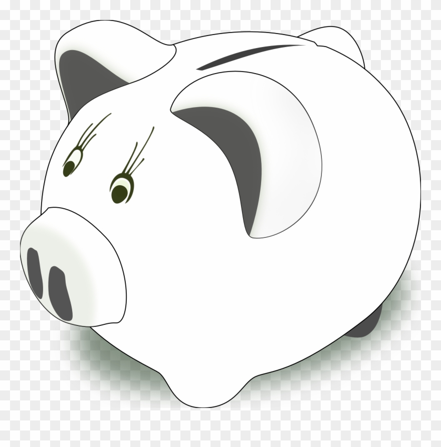 Piggy Bank Clip Art Black And White Free Clipart Piggy Bank